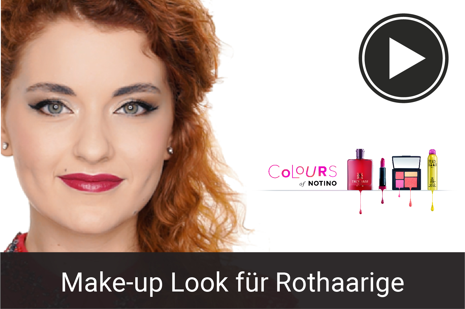 Goldnes Make-up für Rothaarige: Make-up Tutorial
