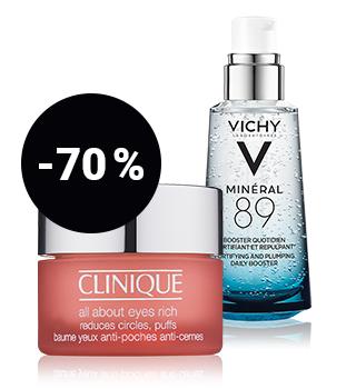 bis -70 % auf Hautpflege