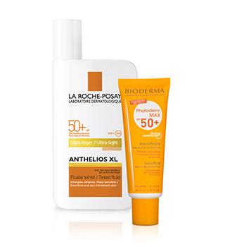 Dermokosmetische Sonnencremes und Sonnenschutzmittel